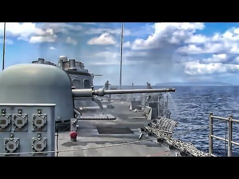Navy Artillery - Deck Guns In Action