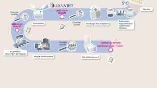 Vaccin contre la grippe - processus de fabrication pour l'hémisphère sud