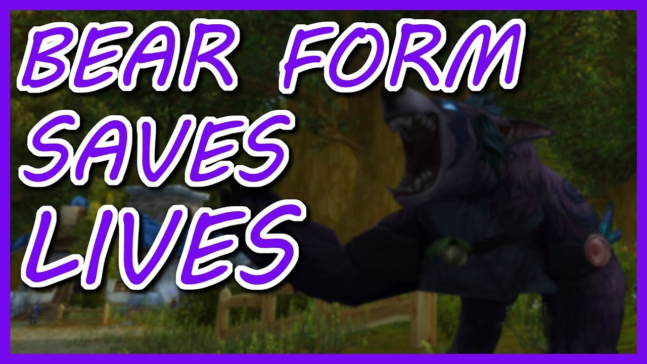 HOW TO USE BEAR FORM! (Feral Druid PvP Survival Tips World of ...
