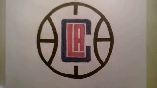How To Draw Los Angeles Clippers Ball Logo Easy Step By Tutorial For Begainners