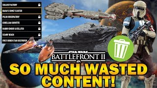 SO MUCH WASTED CONTENT! Star Wars Battlefront 2