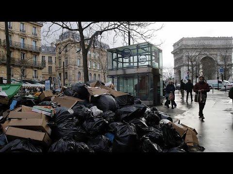 شاهد: استمرار غزو القمامة لشوارع باريس بسبب إضراب العمال…  - 22:00-2020 / 2 / 5