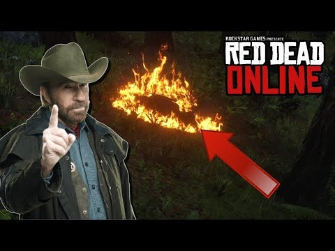 """Red Dead Online - """"Burning Players Alive!""""... Griefing Players in Red Dead Redemption 2"""