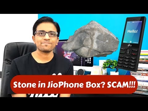Stones Delivered instead of Jio Feature Phone in Unboxing - Fake Bookings - PhoneRadar
