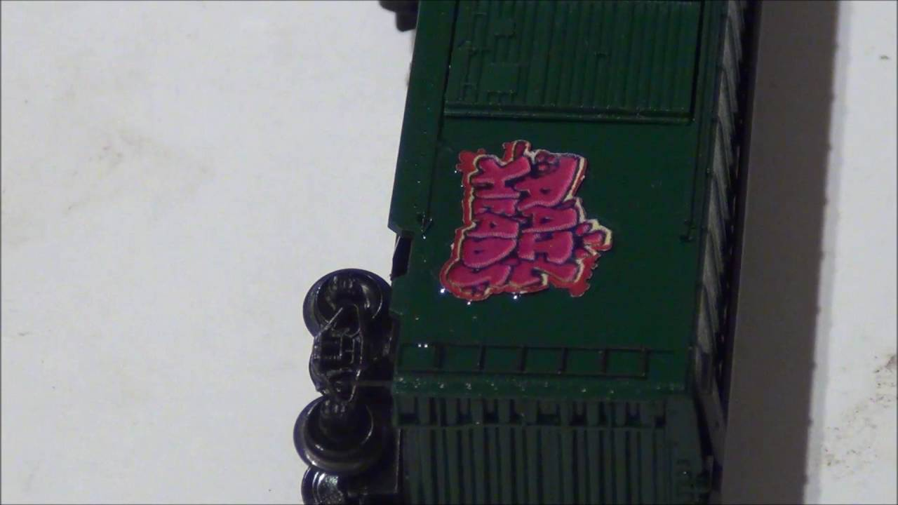 Model railroad how to: Applying graffiti decals to rolling stock tutorial