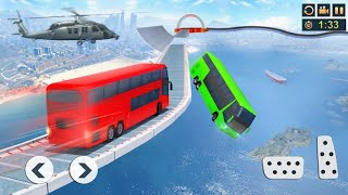 Impossible bus driving master android gameplay | red color bus by wow kidz gameplay