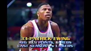 Lakers at Knicks, 1989 (Kareem's last at MSG)(Chick/Stu verz)