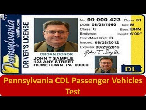 Pennsylvania CDL Passenger Vehicles Test
