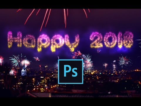 Making A Fireworks Text Effect In Photoshop