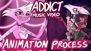 Addict Music Video (Hazbin Hotel) - Behind the Scenes Animation Process YouTube Videos