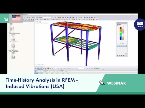 Dlubal Webinar: Time-History Analysis in RFEM - Induced Vibrations (USA)