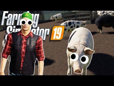 Raising a MASSIVE PIG FARM in Farming Simulator 19! (Farming Simulator 19 Funny Moments Gameplay)