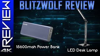 Blitzwolf Product Review - Quick Charge 3.0 Portable Charger & LED Desk Lamp