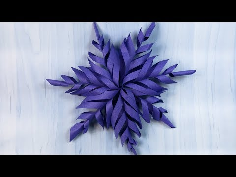 How to make a 3D Christmas star | Easy Paper Snowflakes | Christmas Decoration