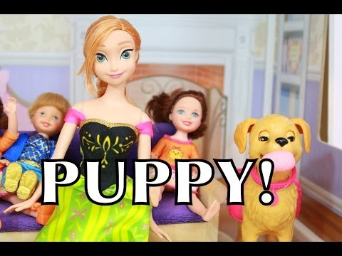 Frozen Anna & Kids Toby name PUPPY Zoe Disney Barbie Doll Toys PLAY-DOH Playdough AllToyCollector