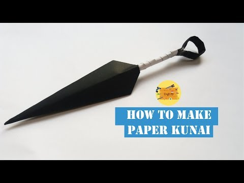 HOW TO MAKE PAPER KUNAI | TUTORIAL MEMBUAT KUNAI DARI KERTAS