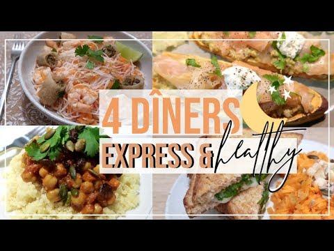 😋4-idÉes-de-dÎners-express,-faciles-et-healthy-🍠(prêts-en---20-minutes-!!!)