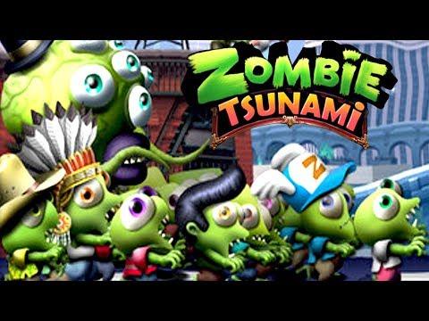 ZOMBIE TSUNAMIi #2 Мультик игра для детей ПРО ЗОМБИ развлекательный детский мультик для малышей
