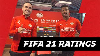 Player reactions on EA SPORTS FIFA 21 RATINGS with Dumfries, Boscagli, Teze, Zahavi, Max & Malen 🎮