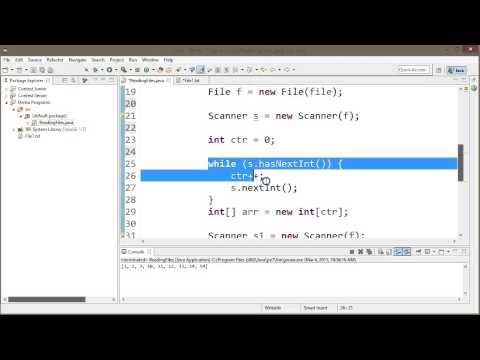 Reading Integers from File to Array (Response)