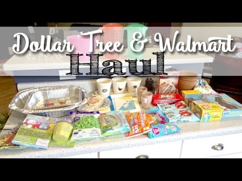 Dollar Tree Haul & Walmart Haul | Easter Birthday Party Supplies