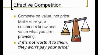 Pricing To Compete In Today's Market (3 Of 5)