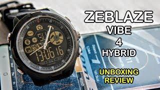 Zeblaze Vibe 4 Hybrid Smartwatch Unboxing and Review