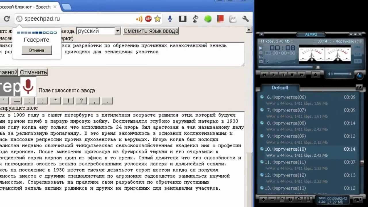 Программа для преобразования аудиозаписи в текст