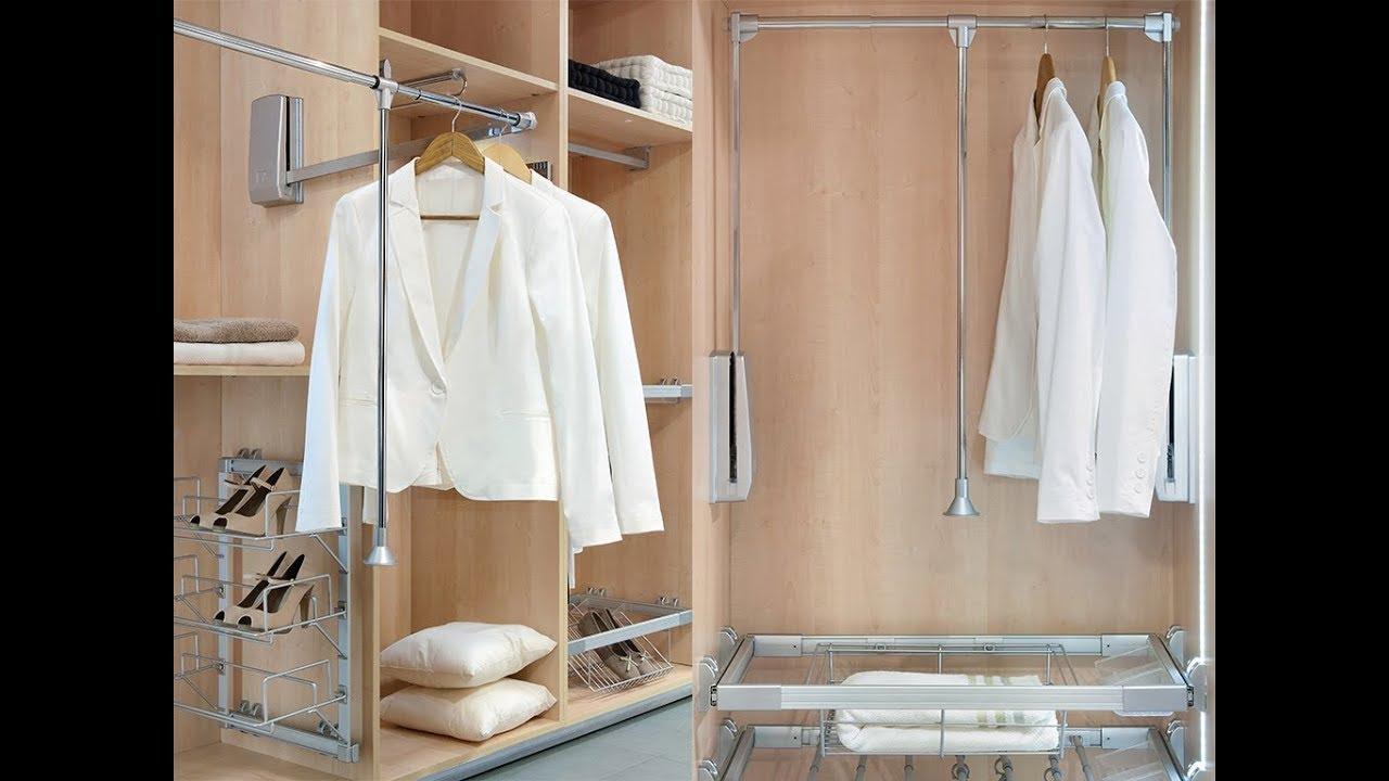 Tringle D Angle Dressing elévateur barre de penderie rabattable accessoires de dressing