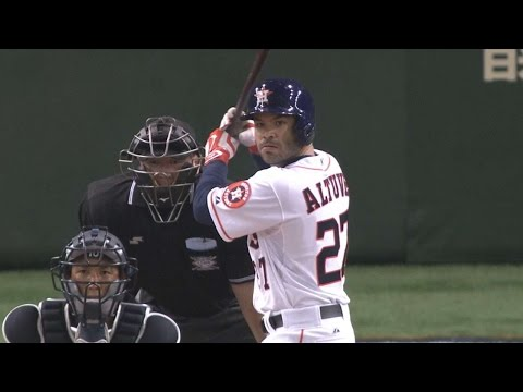 JPN@MLB: Altuve's bat, glove help MLB to win in Japan