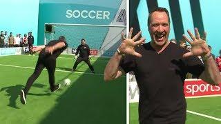 David Seaman & John Bradley | Penalties, volleys, free-kick & crossbar challenge | Soccer AM Pro AM