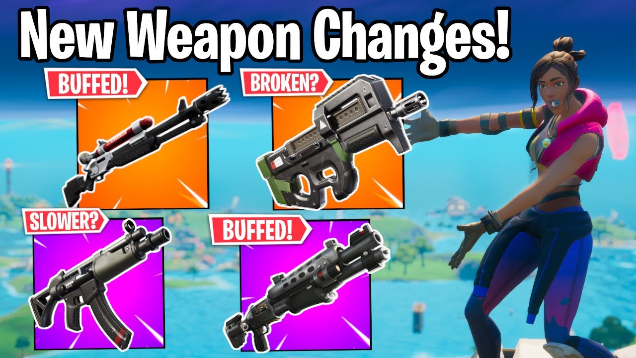 The NEW Weapon Changes In The Fortnite Season 3 Update! (Spray Meta?)