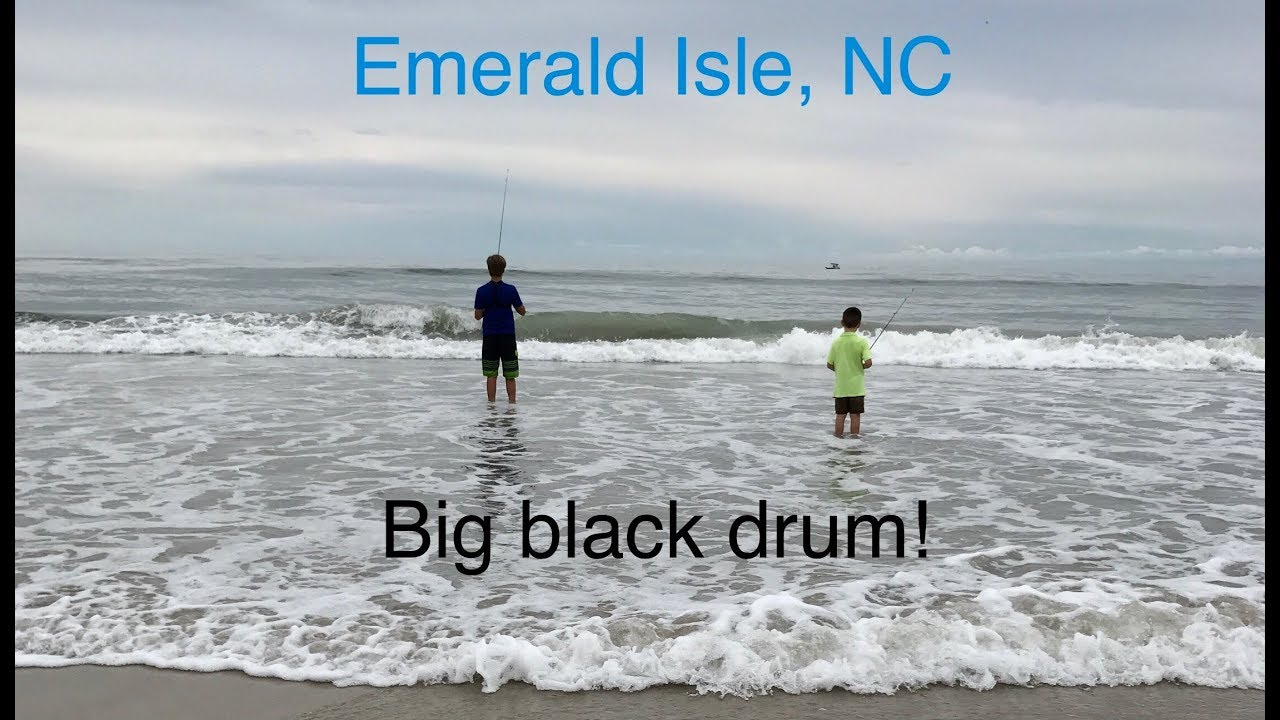 Surf fishing emerald isle nc youtube for Fishing report emerald isle nc