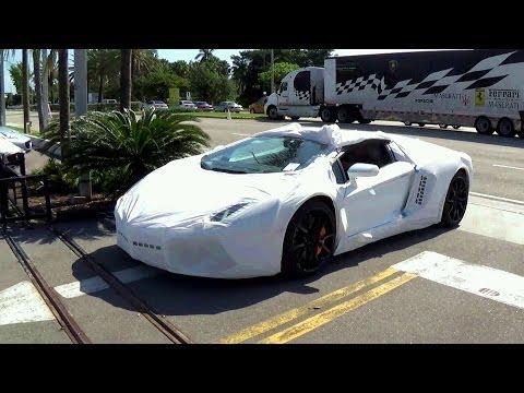 2014 Lamborghini Aventador LP700 4 Roadster Delivery To Lamborghini Miami