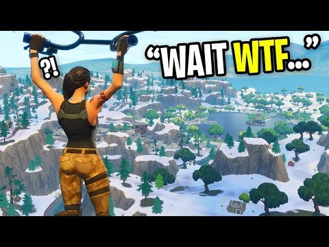 HACKER CHANGED THE MAP INTO SNOW ON FORTNITE... (wtf Is Happening)