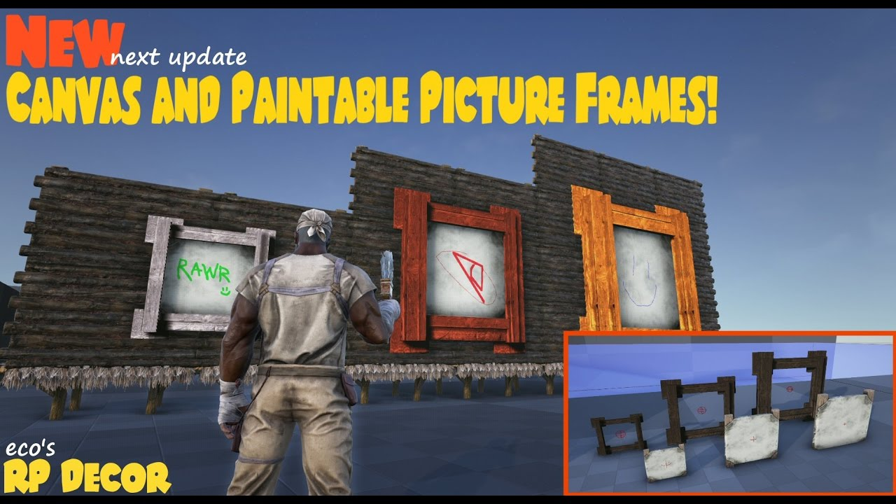 Ecou0027s RP Decor | New Canvas And Paintable Frames! | ARK Sponsored Mod