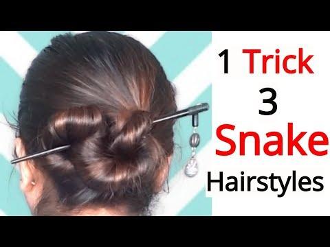 1-trick-&-3-snake-hairstyles-||very-easy-hairstyles-for-short-,-medium-&-long-hair
