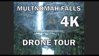 Flyover tour of Maltnomah Falls in 4K! 2018