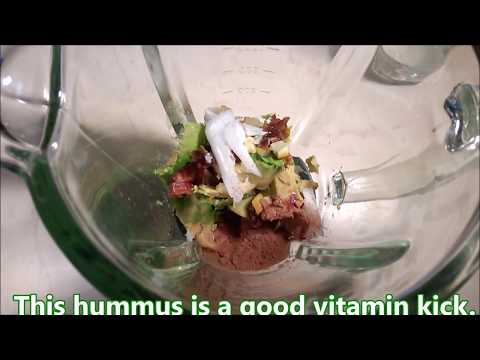 Bio Avocado Hummus with Raw Cacao within 13 mins in 2 steps
