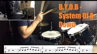 B.Y.O.B Drum Tutorial - System Of A Down