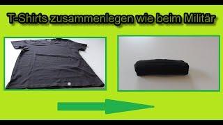 How to Army Roll Shirts / T shirt fold Lifehack