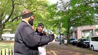 (5) - Arkansas  Israelite on the streets preaching the bible.
