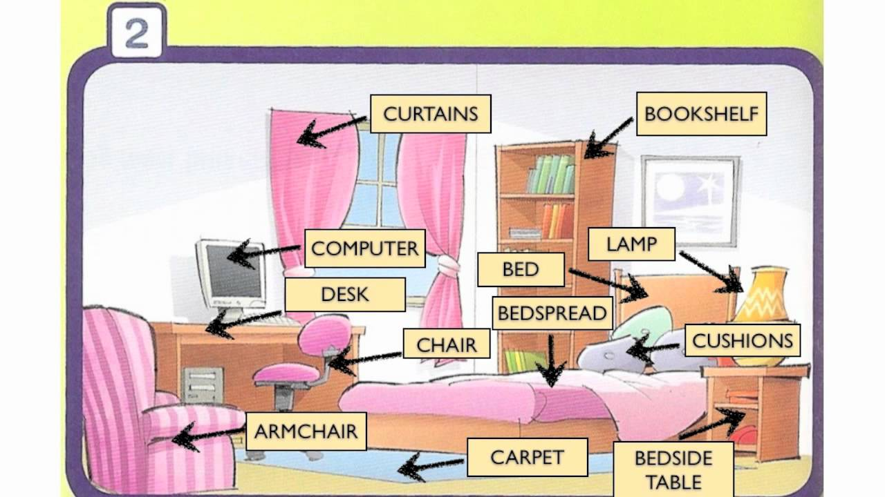 Bedroom objects - YouTube