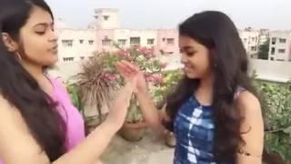 Girl's singing background song of pinga g pori