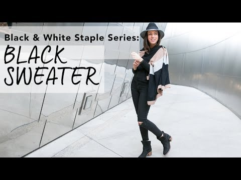 How to Wear a BLACK SWEATER I Black & White Staple Series