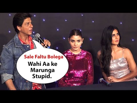 Shah Rukh Khan gets Angry* On Reporter For Asking Stupid Question