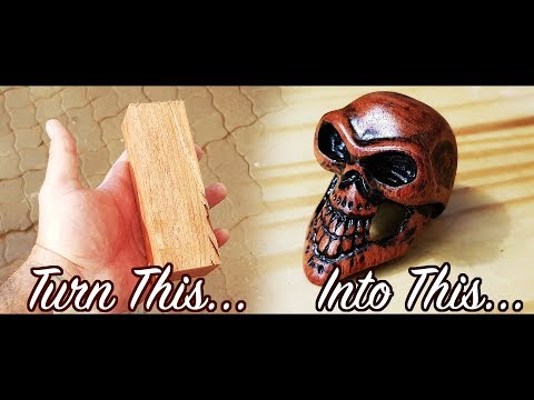 Carved a Skull out of Rosewood - Build video