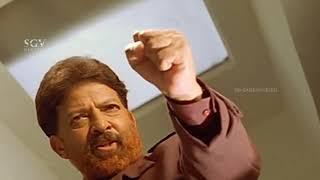 Dr.Vishnuvardhan Powerful Dialogue To Rowdy   Best Action Scene from Kadamba Kannada Movie