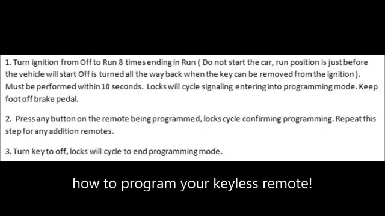 Remotesremotes How To Program Autos Post