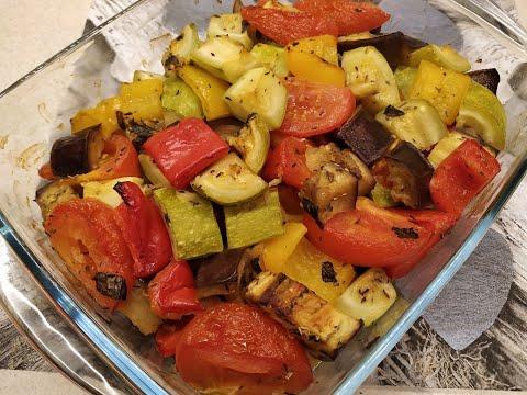 Запечённые овощи в духовке. Лёгкий и вкусный рецепт.